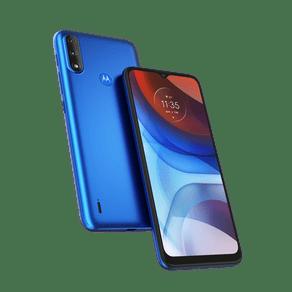Smartphone-Moto-E7-Power-32GB-Imagem-Frontal-Curvada-Azul-Metalico